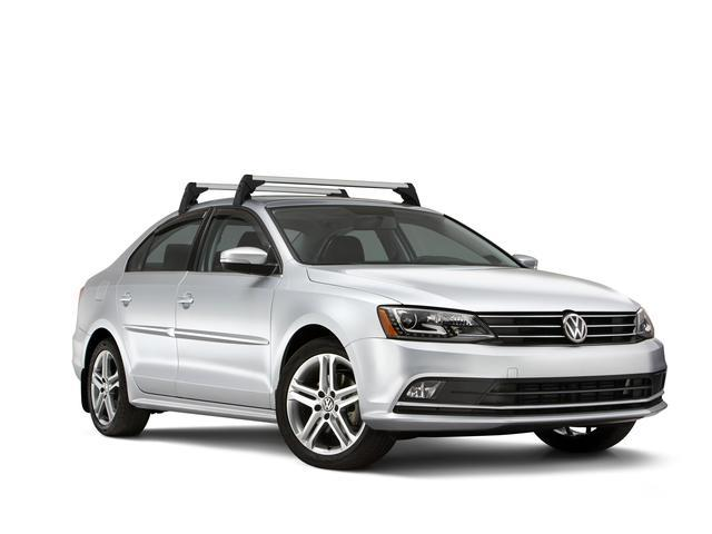 Diagram Base Carrier Bars - Black/Silver (5C6071126) for your 2016 Volkswagen SportWagen