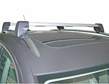 Diagram Base Carrier Bars - For vehicles with factory rails - Silver (5N0071151) for your 2016 Volkswagen SportWagen